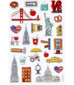 STICKERS USA GLOSSY