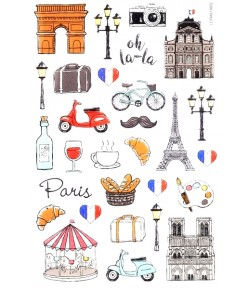 STICKERS FRANCE GLOSSY