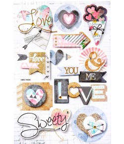 STICKERS 3D LOVE SWEET