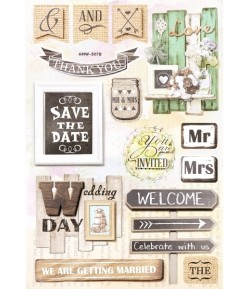 STICKERS 3D MARIAGE