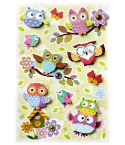 STICKERS 3D CHOUETTES