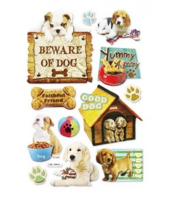 STICKERS 3D CHIENS