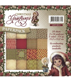 BLOC 24 FEUILLES 15 X 15 CM - CHRISTMAS GREETINGS