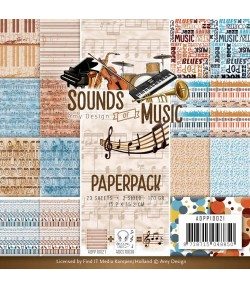 BLOC 23 FEUILLES 15 X 15 CM - SOUND OF MUSIC