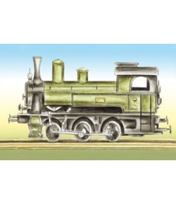 IMAGE 3D LOCOMOTIVE 18.5X12 DF3D010A