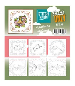 6 CARTES A BRODER STITCH AND DO - SET 26