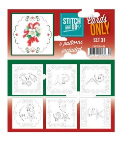 6 CARTES A BRODER STITCH AND DO - SET 31