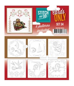 6 CARTES A BRODER STITCH AND DO - SET 34