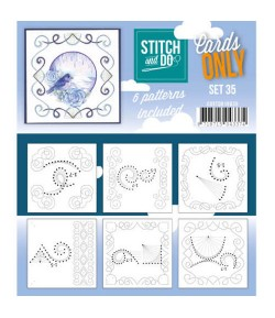 6 CARTES A BRODER STITCH AND DO - SET 32
