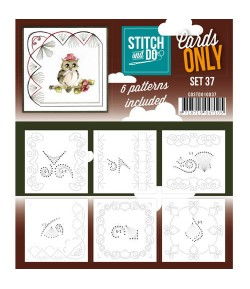 6 CARTES A BRODER STITCH AND DO - SET 37