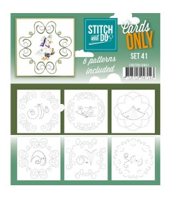 6 CARTES A BRODER STITCH AND DO - SET 41