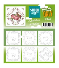 6 CARTES A BRODER STITCH AND DO - SET 44