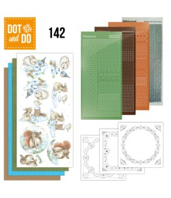 KIT 3D DOT AND DO LAPIN ET ECUREUIL - 142