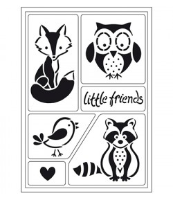POCHOIRS LITTLE FRIENDS A5