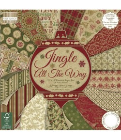 BLOC 48 FEUILLES 30X30 JINGLE ALL THE WAY