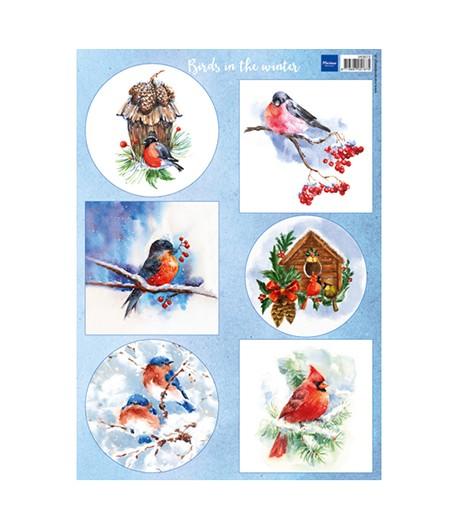 FEUILLE 3D BIRDS IN THE WINTER - VK9572