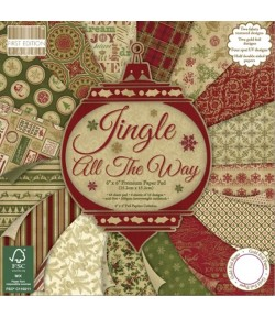 BLOC 64 FEUILLES 15X15 JINGLE ALL THE WAY