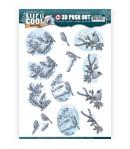FEUILLE 3D CHIEN ET CHAT NOEL - SB10198