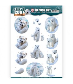 FEUILLE 3D OURS BLANC - SB10306