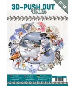 BLOC 3D A4 + PAPIERS -  WINTER N°12