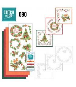 KIT 3D A BRODER MERRY CHRISTMAS - STDO090