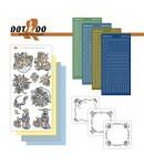 KIT 3D DOT FILLETTES ET FLEURS BLEUES -  DODO025