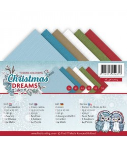 24 CARTES 13.5X27 CHRISTMAS DREAMS