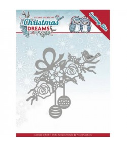 DIE BRANCHE ET BOULES CHRISTMAS DREAMS