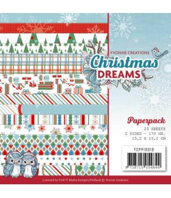 BLOC 23 FEUILLES 15.2X15.2 CM CHRISTMAS DREAM