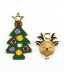CHARMS CHRISTMAS SAPIN ET RENNE