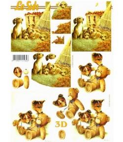 FEUILLE 3D LES CHIOTS