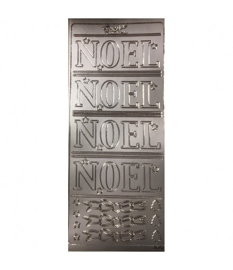 STICKERS NOEL ARGENT