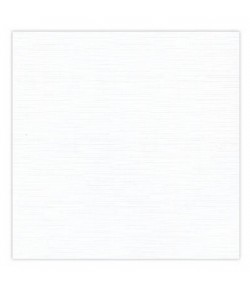 25 FEUILLES 12.8 X 12.8 CM  240GR - BLANC