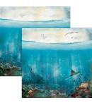 BLOC 12 FEUILLES UNDER THE OCEAN  30.5X30.5CM