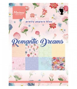 BLOC PAPIER ROMANTIC DREAMS - MARIANNE DESIGN