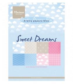 BLOC PAPIER ROMANTIC DREAMS - MARIANNE DESIGN