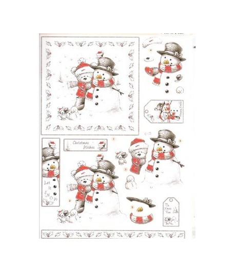 FEUILLE 3D BEAR SNOW DCD547