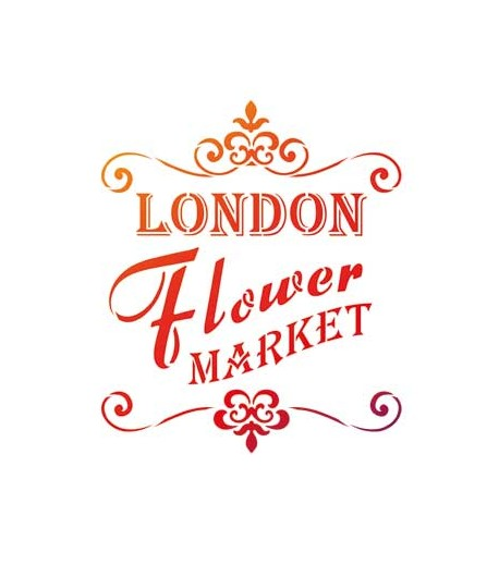 POCHOIR A4 LONDON FLOWER MARKET