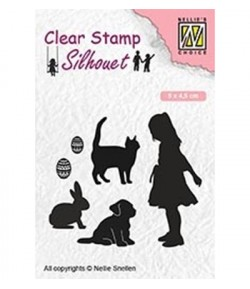 TAMPON CLEAR FILLETTE ET ANIMAUX