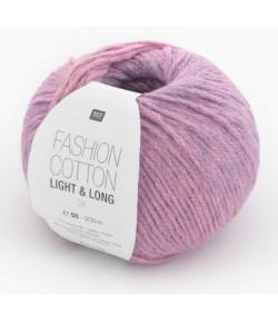 LAINE FASHION COTTON LIGHT & LONG LILAS ET ROSE (004)