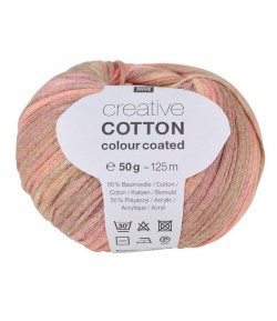 LAINE CREATIVE COTTON COLOUR COATED ROSE BRUN (004)