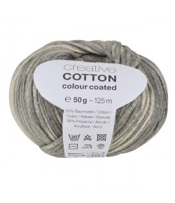LAINE CREATIVE COTTON COLOUR COATED GRIS (005)