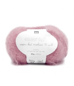 LAINE SUPER KID MOHAIR SILK ROSE BONBON (034)