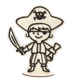 FIGURINE BOIS PIRATE POUR FOAM CLAY