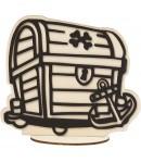 FIGURINE BOIS COFFRE POUR FOAM CLAY