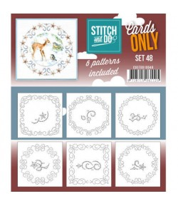 6 CARTES A BRODER STITCH AND DO - SET 48