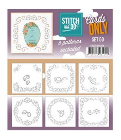 6 CARTES A BRODER STITCH AND DO - SET 50