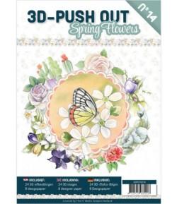 BLOC 3D A4 + PAPIERS -  SPRING FLOWERS N°14