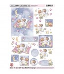 FEUILLE 3D BABY GIRL DCD534