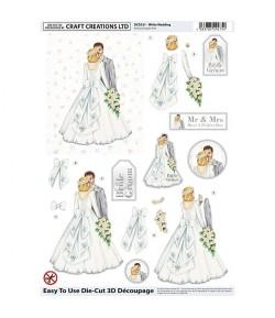 FEUILLE 3D MARIAGE DCD531